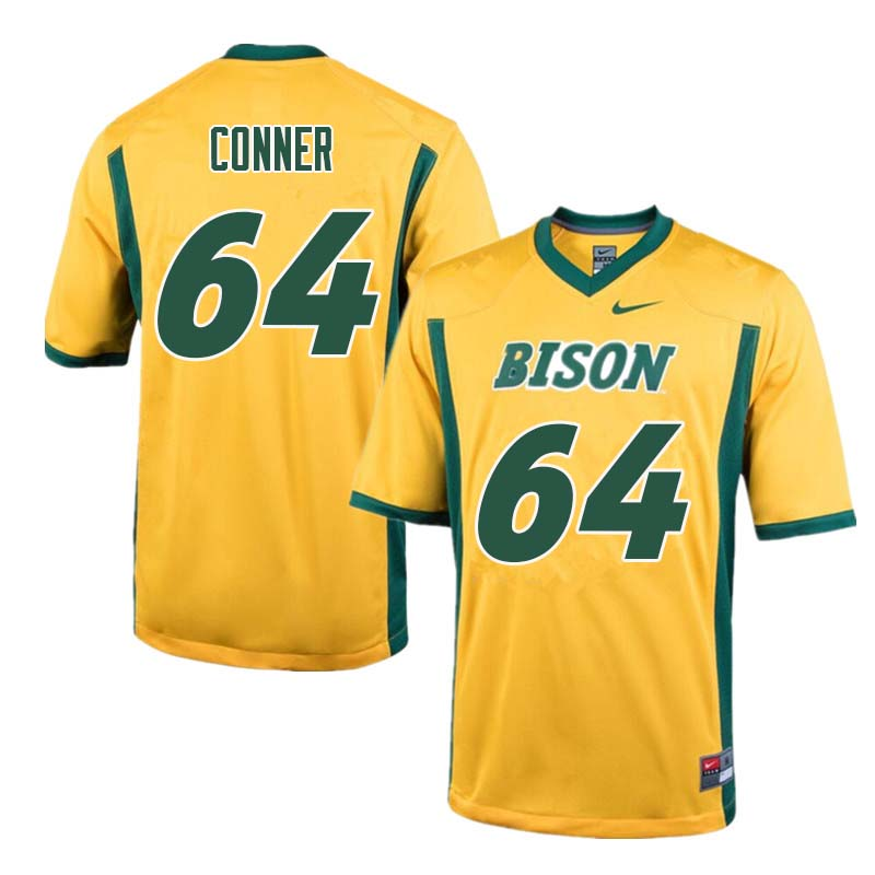 Men #64 Colin Conner North Dakota State Bison College Football Jerseys Sale-Yellow