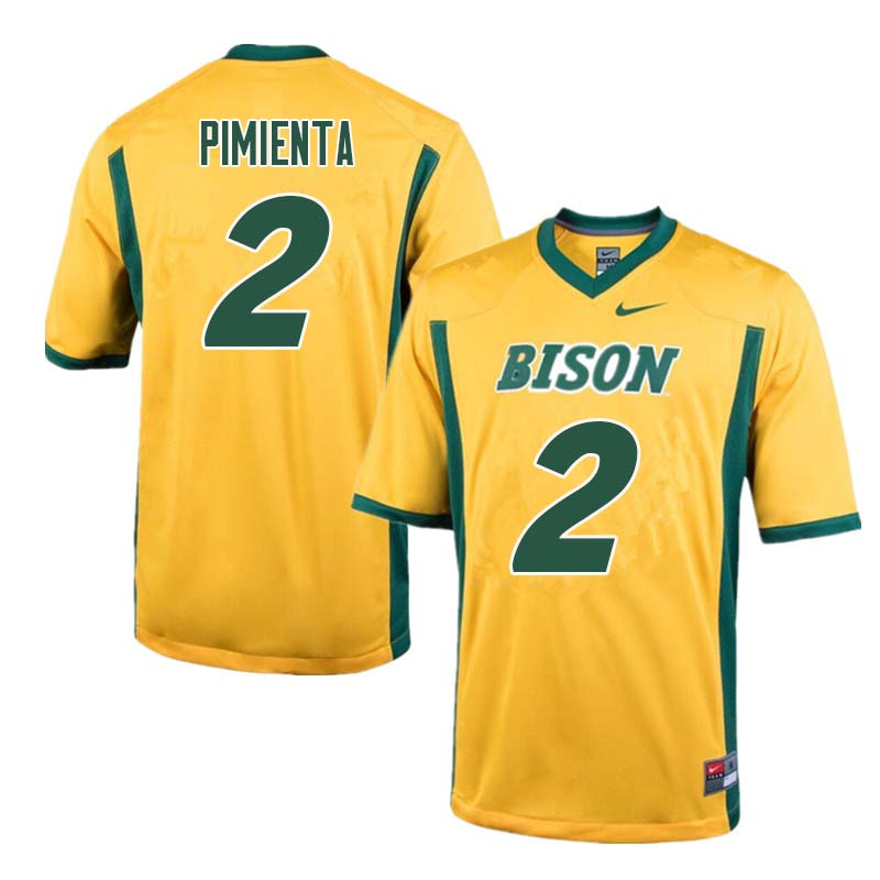 Men #2 Cordell Pimienta North Dakota State Bison College Football Jerseys Sale-Yellow