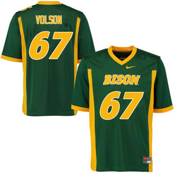Men #67 Cordell Volson North Dakota State Bison College Football Jerseys Sale-Green