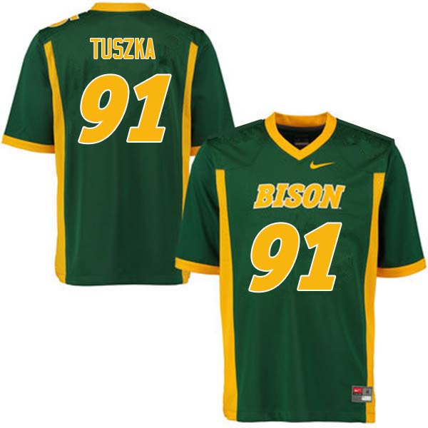Men #91 Derrek Tuszka North Dakota State Bison College Football Jerseys Sale-Green