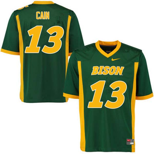 Men #13 Desmond Cain North Dakota State Bison College Football Jerseys Sale-Green