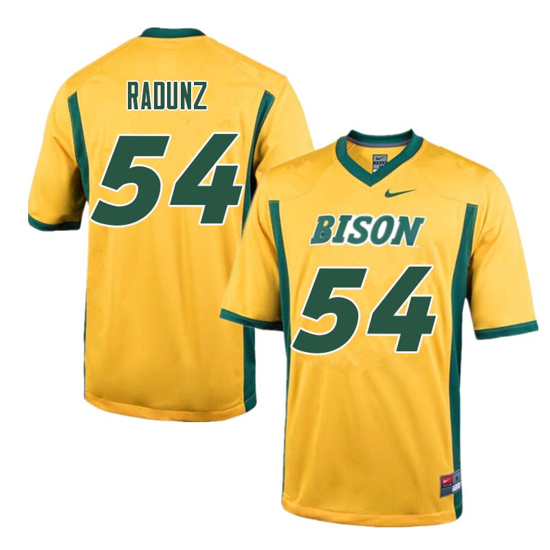 Men #54 Dillon Radunz North Dakota State Bison College Football Jerseys Sale-Yellow