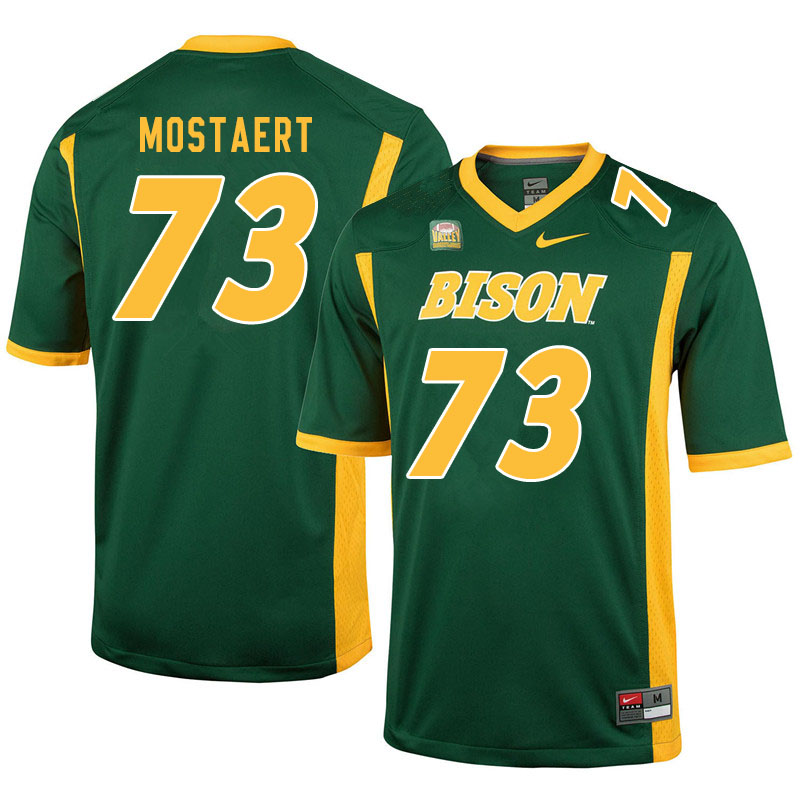 Men #73 Eli Mostaert North Dakota State Bison College Football Jerseys Sale-Green