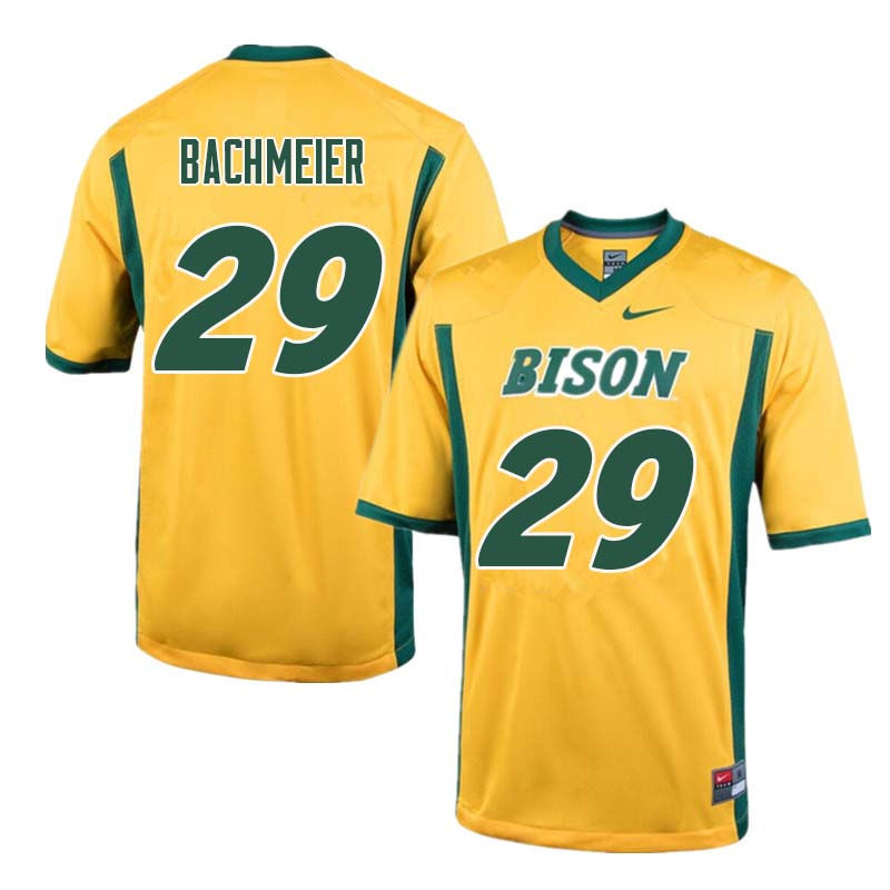 Men #29 Eric Bachmeier North Dakota State Bison College Football Jerseys Sale-Yellow
