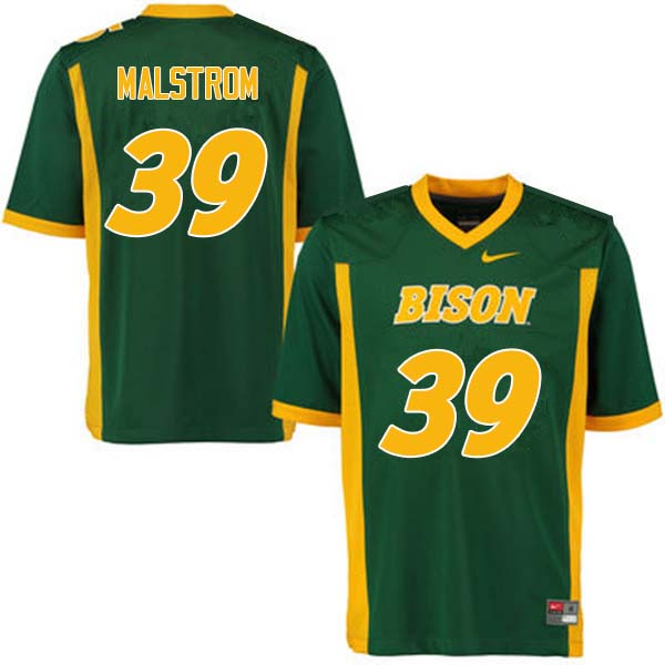Men #39 Garrett Malstrom North Dakota State Bison College Football Jerseys Sale-Green