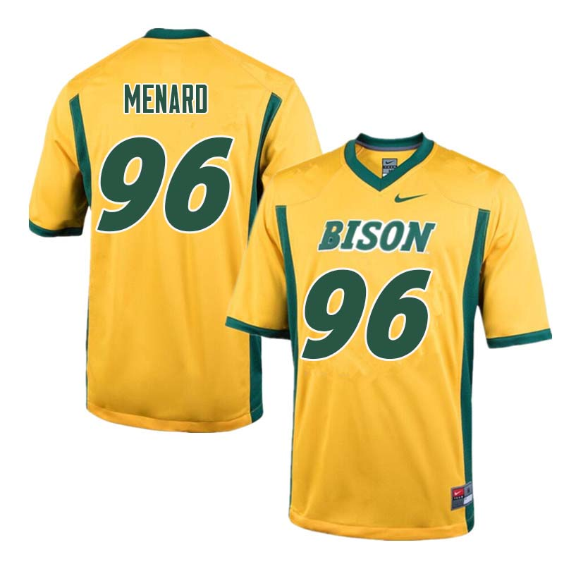 Men #96 Greg Menard North Dakota State Bison College Football Jerseys Sale-Yellow