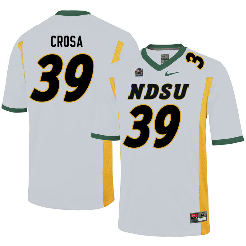 Men #39 Griffin Crosa North Dakota State Bison College Football Jerseys Sale-White
