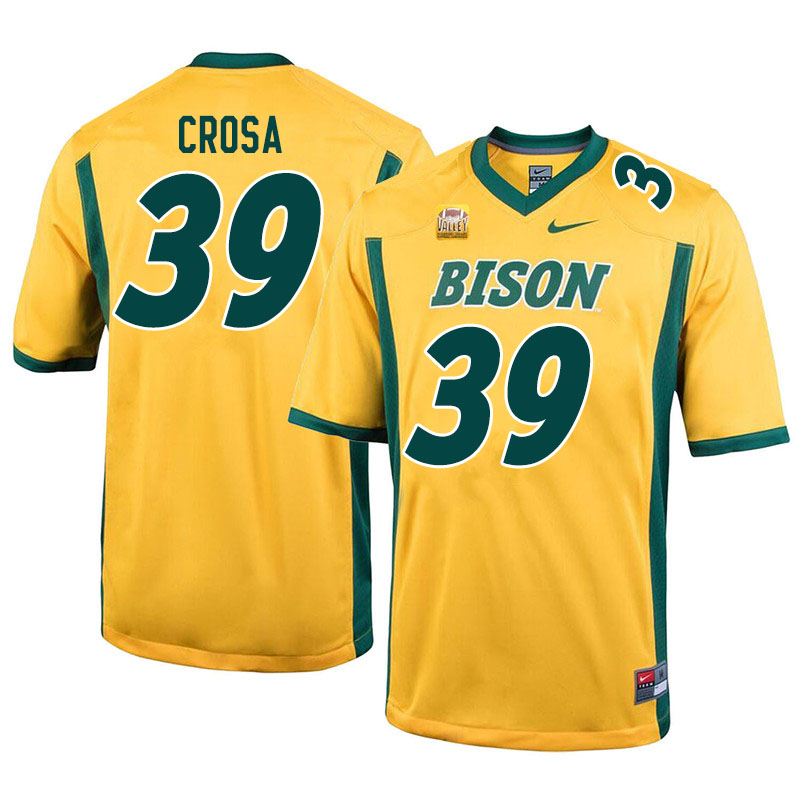 Men #39 Griffin Crosa North Dakota State Bison College Football Jerseys Sale-Yellow