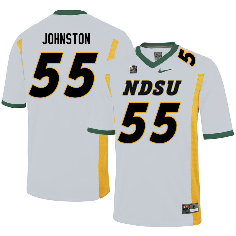Men #55 Hayden Johnston North Dakota State Bison College Football Jerseys Sale-White