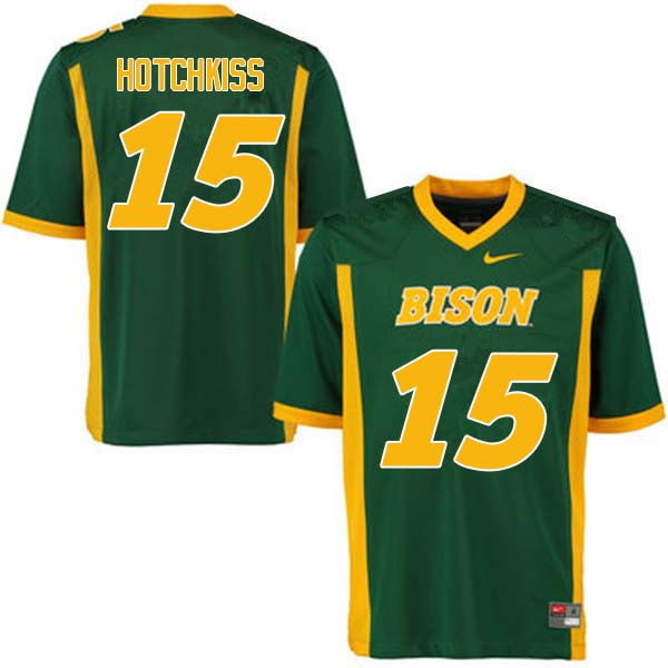 Men #15 Holden Hotchkiss North Dakota State Bison College Football Jerseys Sale-Green