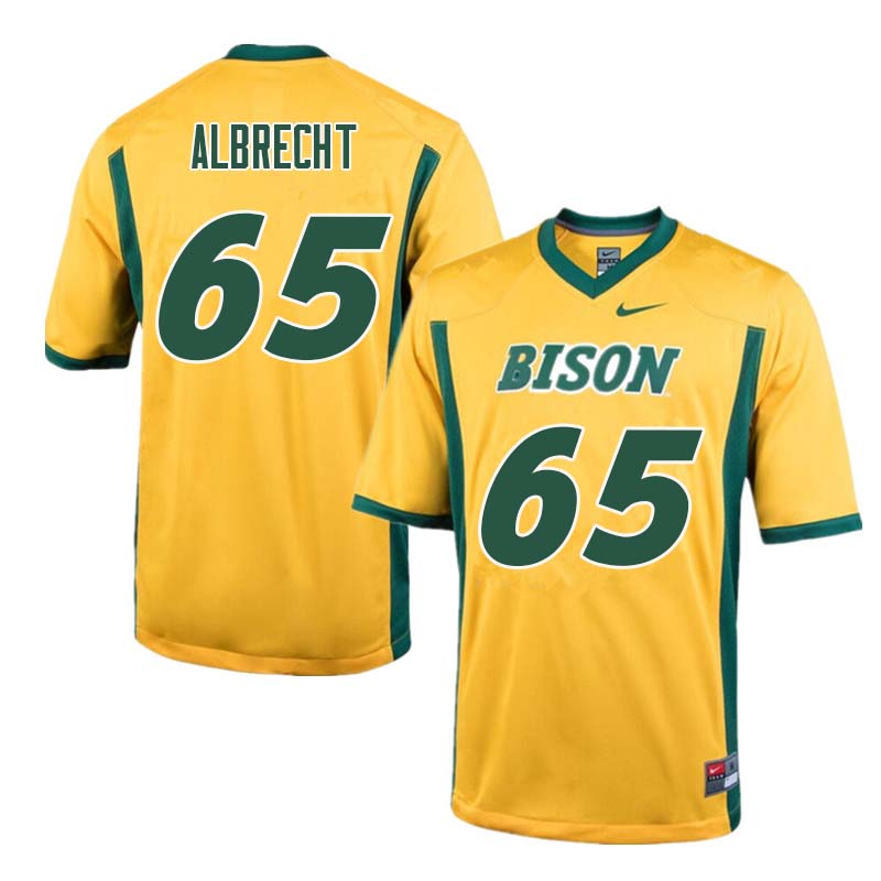 Men #65 Jack Albrecht North Dakota State Bison College Football Jerseys Sale-Yellow