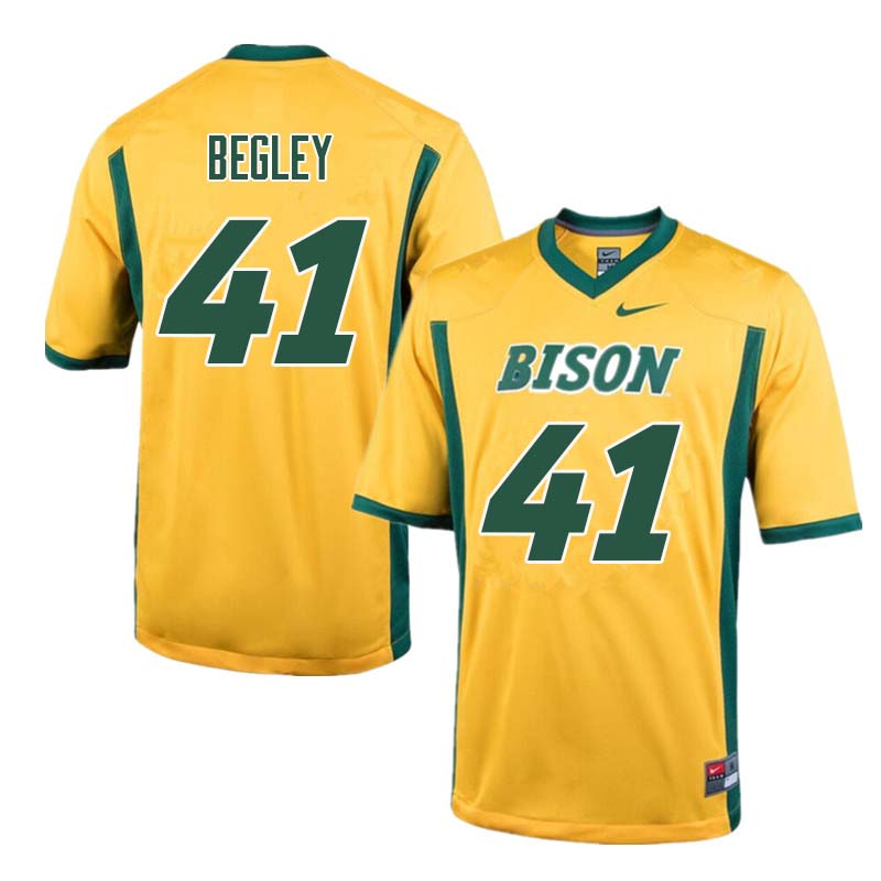 Men #41 Jack Begley North Dakota State Bison College Football Jerseys Sale-Yellow