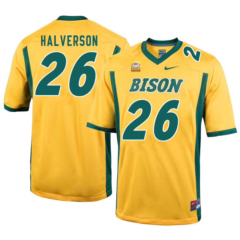 Men #26 Jacob Halverson North Dakota State Bison College Football Jerseys Sale-Yellow
