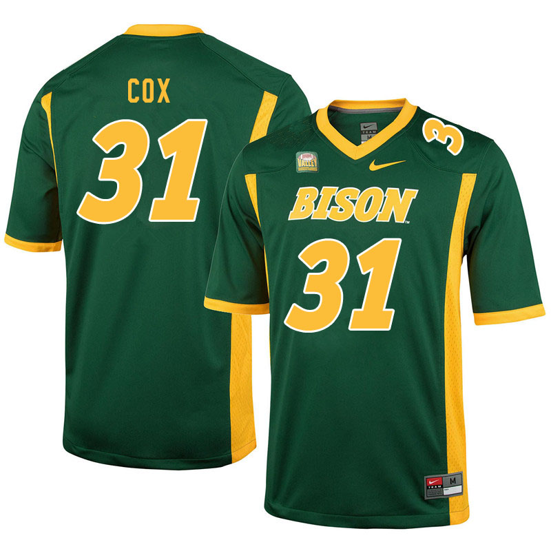 Men #31 Jasir Cox North Dakota State Bison College Football Jerseys Sale-Green