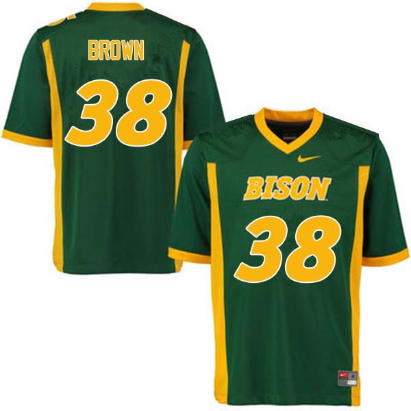 Men #38 Jaxon Brown North Dakota State Bison College Football Jerseys Sale-Green