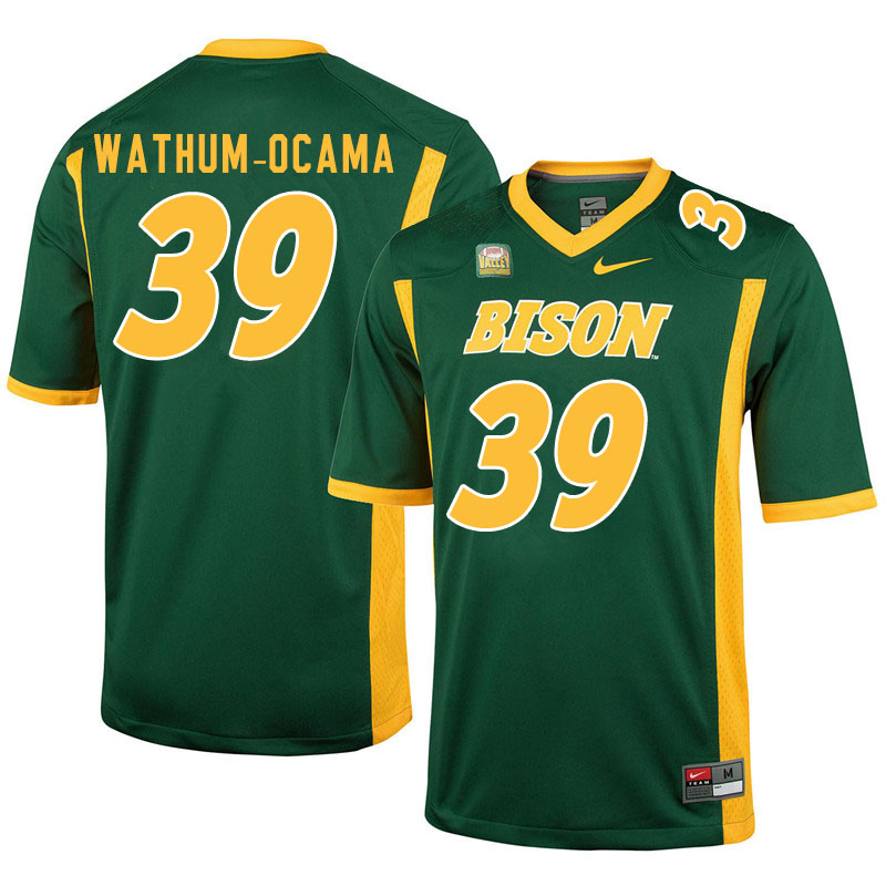 Men #39 Jenaro Wathum-Ocama North Dakota State Bison College Football Jerseys Sale-Green