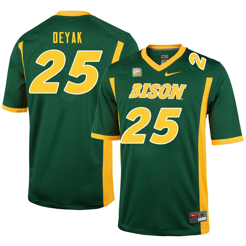 Men #25 Joe Deyak North Dakota State Bison College Football Jerseys Sale-Green
