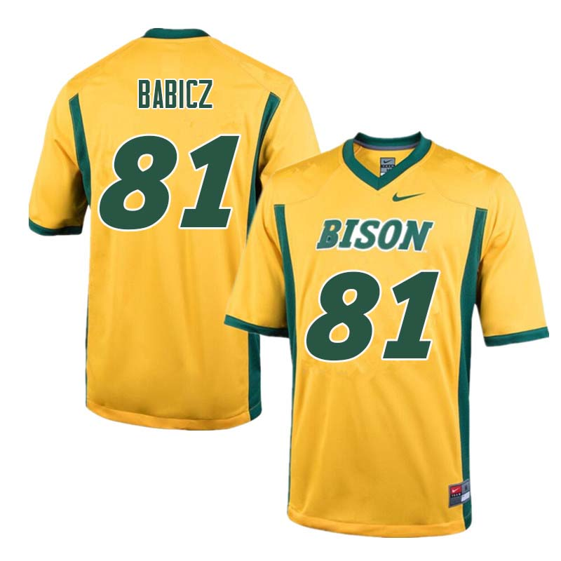 Men #81 Josh Babicz North Dakota State Bison College Football Jerseys Sale-Yellow