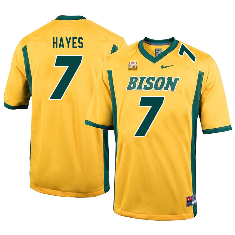 Men #7 Josh Hayes North Dakota State Bison College Football Jerseys Sale-Yellow