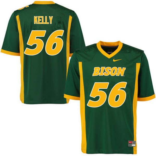 Men #56 Justice Kelly North Dakota State Bison College Football Jerseys Sale-Green