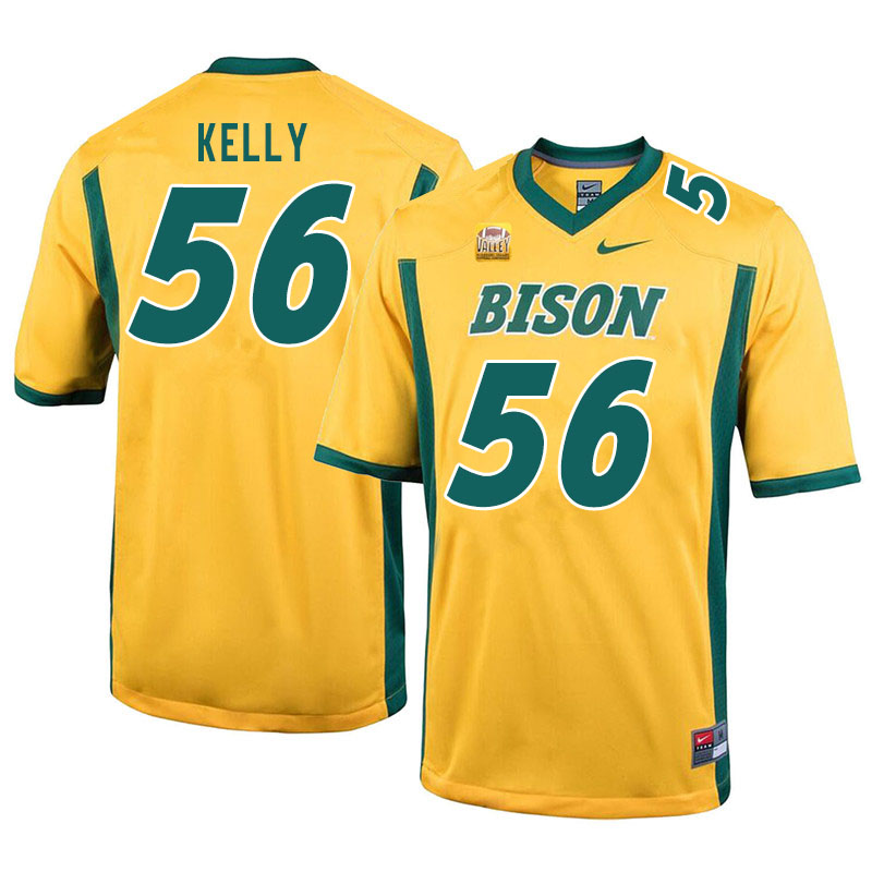 Men #56 Justice Kelly North Dakota State Bison College Football Jerseys Sale-Yellow