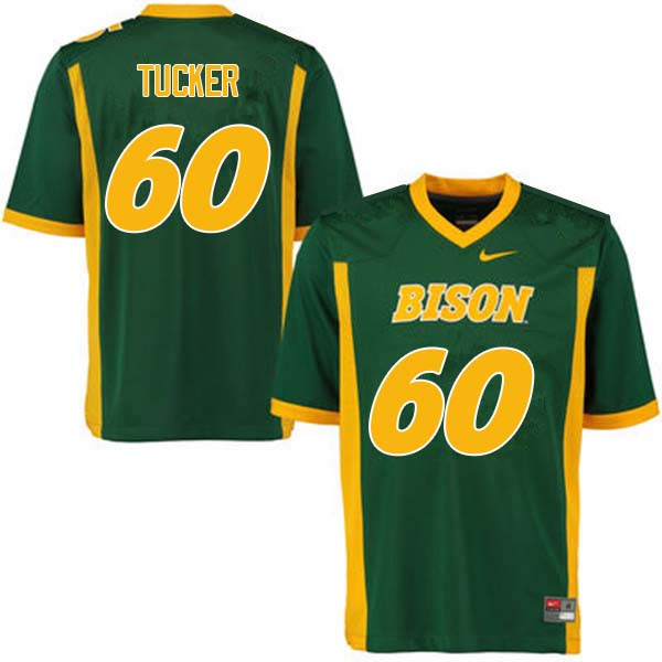 Men #60 Lane Tucker North Dakota State Bison College Football Jerseys Sale-Green