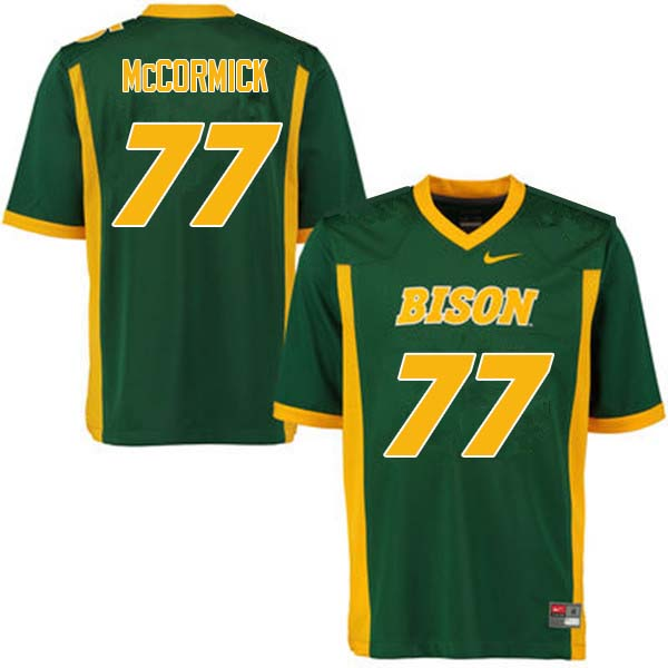 Men #77 Logan McCormick North Dakota State Bison College Football Jerseys Sale-Green