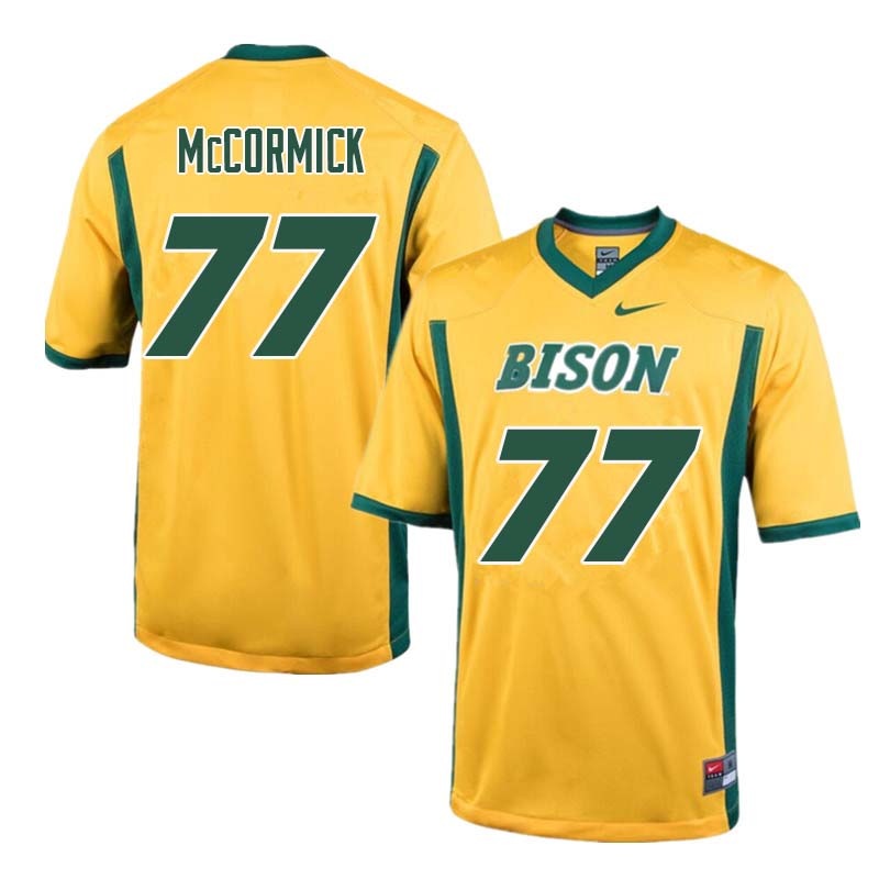 Men #77 Logan McCormick North Dakota State Bison College Football Jerseys Sale-Yellow