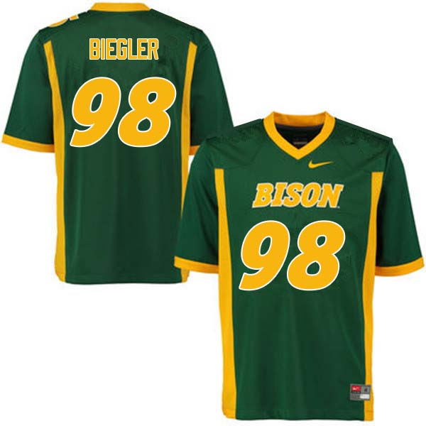 Men #98 Matt Biegler North Dakota State Bison College Football Jerseys Sale-Green