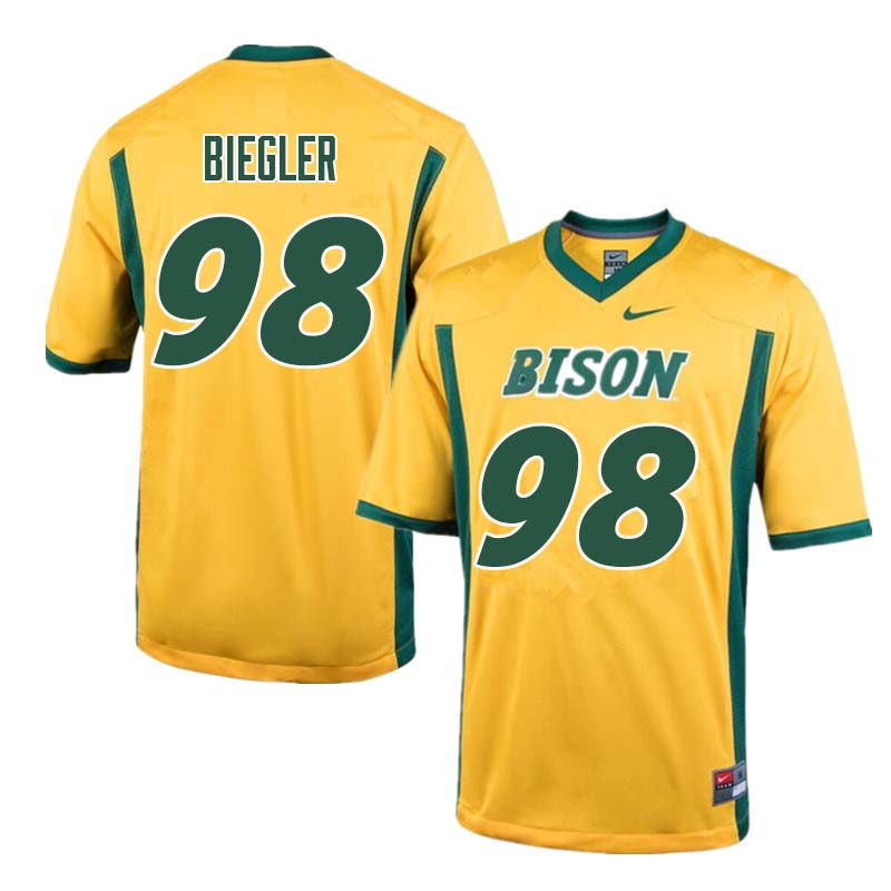 Men #98 Matt Biegler North Dakota State Bison College Football Jerseys Sale-Yellow