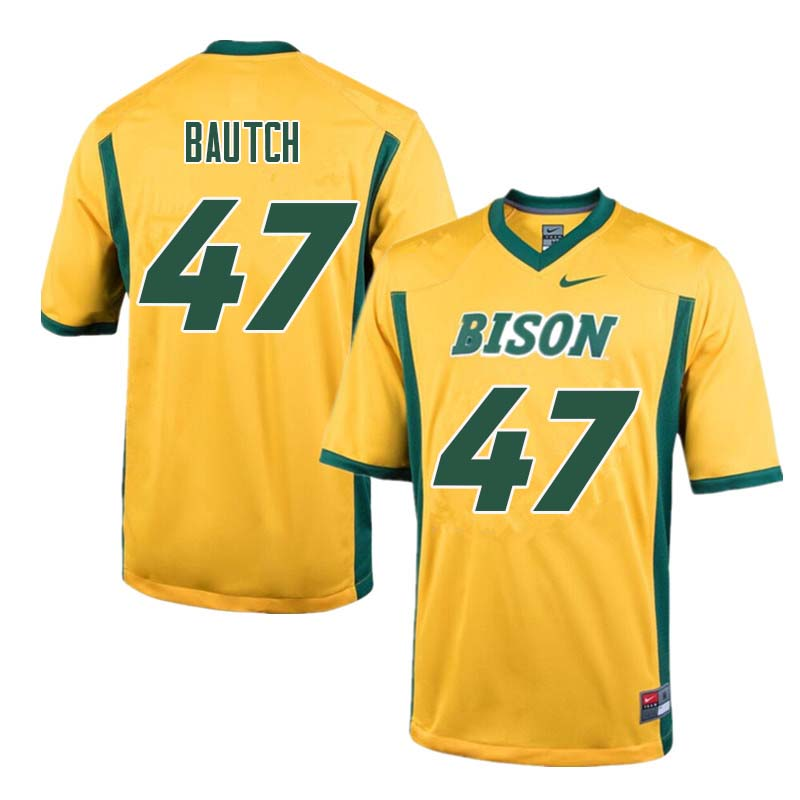 Men #47 Max Bautch North Dakota State Bison College Football Jerseys Sale-Yellow - Click Image to Close