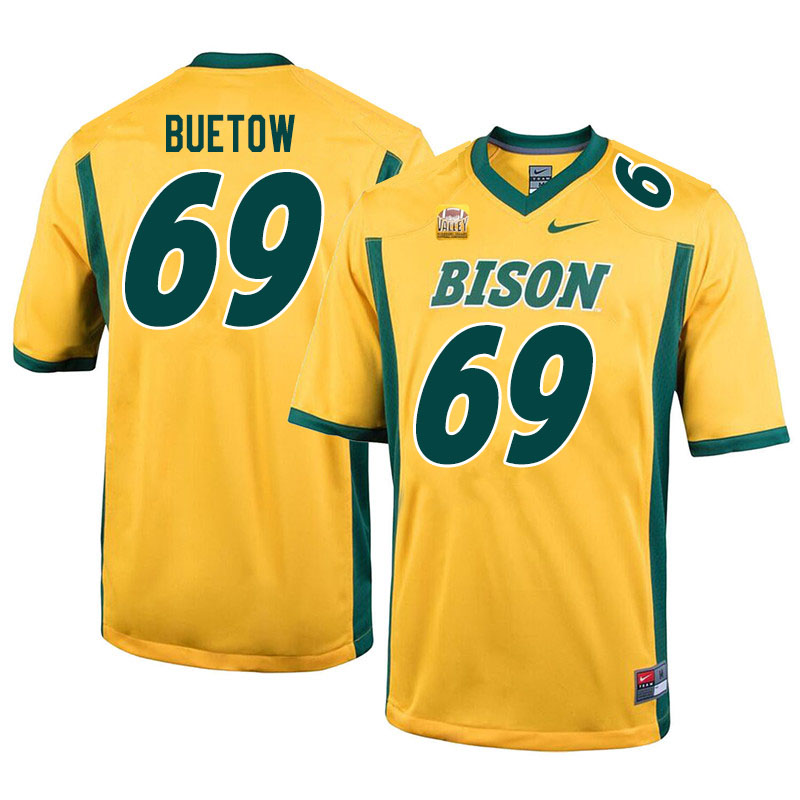Men #69 Michael Buetow North Dakota State Bison College Football Jerseys Sale-Yellow