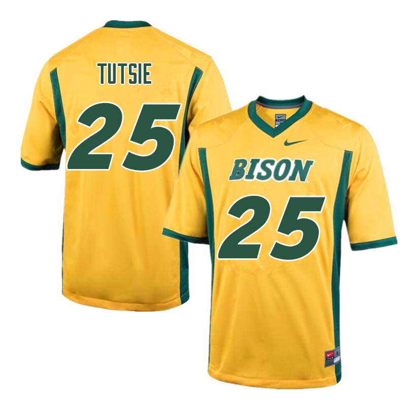 Men #25 Michael Tutsie North Dakota State Bison College Football Jerseys Sale-Yellow