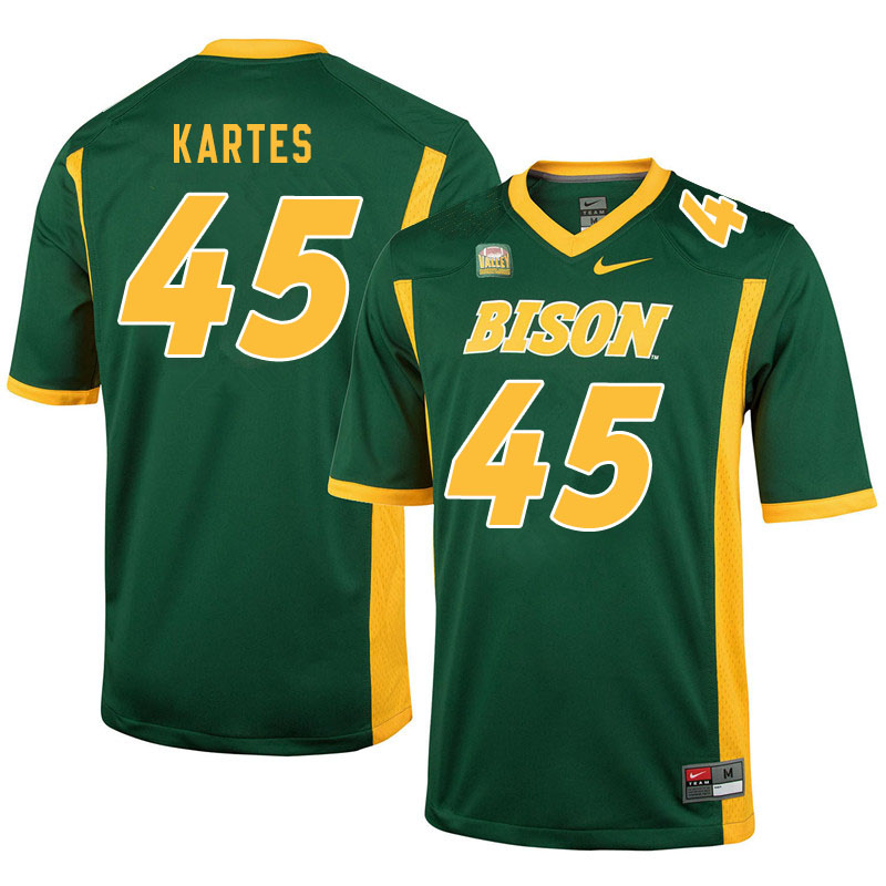 Men #45 Mitchell Kartes North Dakota State Bison College Football Jerseys Sale-Green