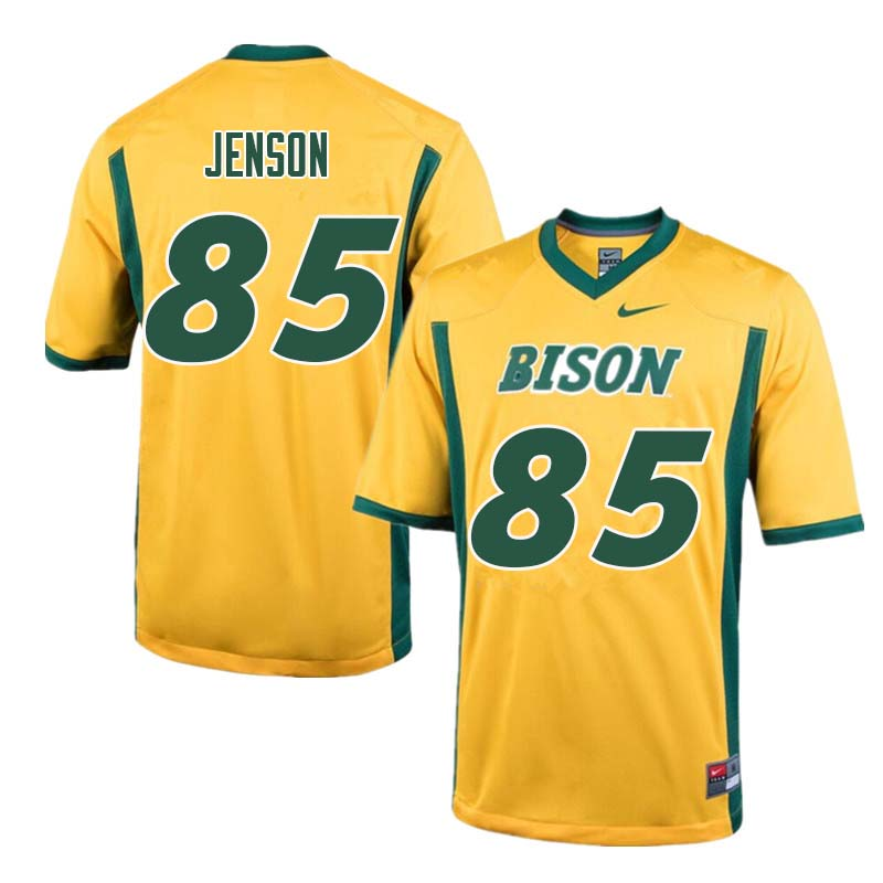 Men #85 Nate Jenson North Dakota State Bison College Football Jerseys Sale-Yellow