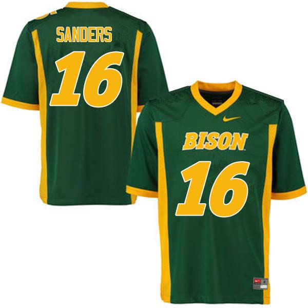 Men #16 Noah Sanders North Dakota State Bison College Football Jerseys Sale-Green