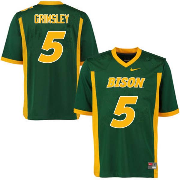 Men #5 Robbie Grimsley North Dakota State Bison College Football Jerseys Sale-Green