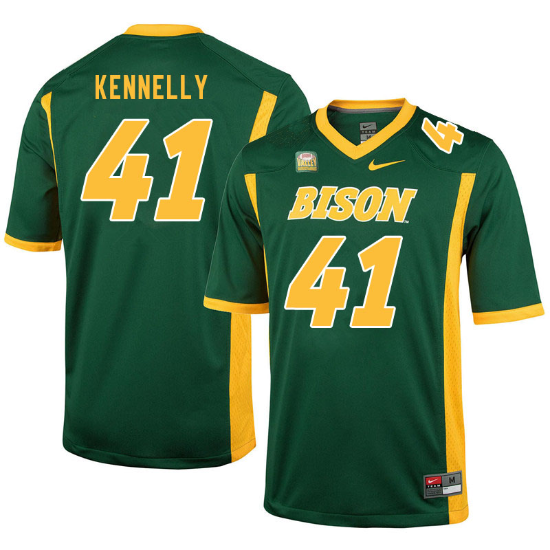 Men #41 Ross Kennelly North Dakota State Bison College Football Jerseys Sale-Green