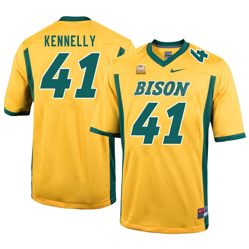 Men #41 Ross Kennelly North Dakota State Bison College Football Jerseys Sale-Yellow