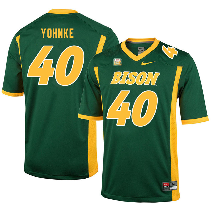 Men #40 Travis Yohnke North Dakota State Bison College Football Jerseys Sale-Green