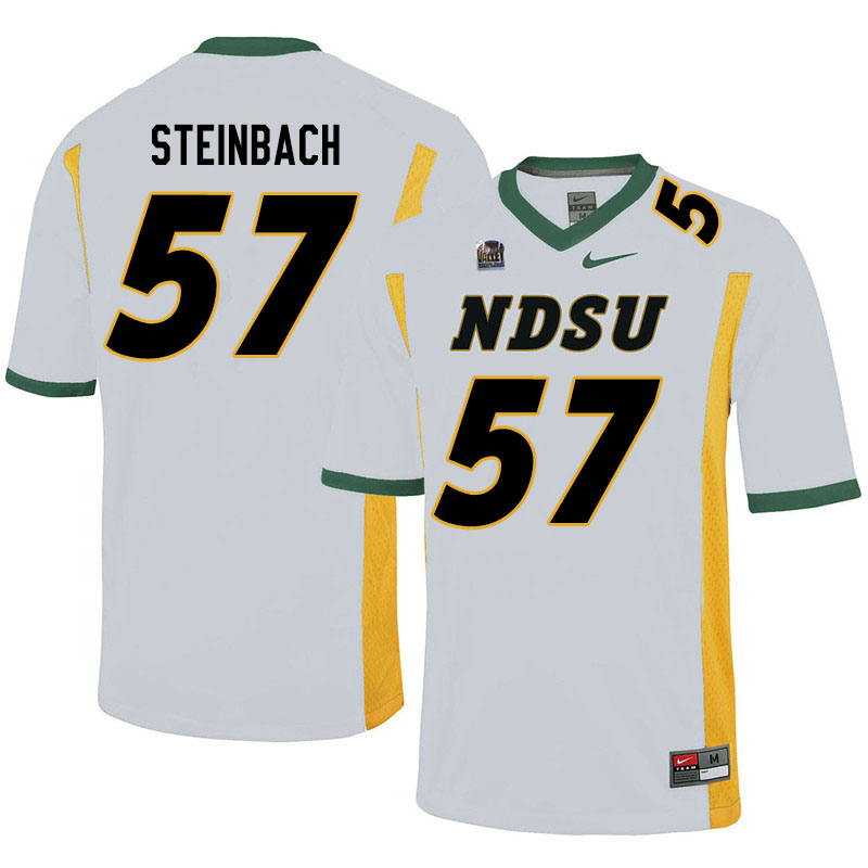 Men #57 Trey Steinbach North Dakota State Bison College Football Jerseys Sale-White