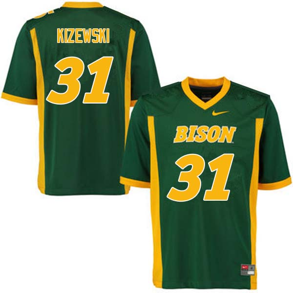 Men #31 Victor Kizewski North Dakota State Bison College Football Jerseys Sale-Green