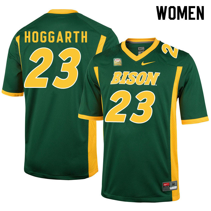Women #23 Ben Hoggarth North Dakota State Bison College Football Jerseys Sale-Green
