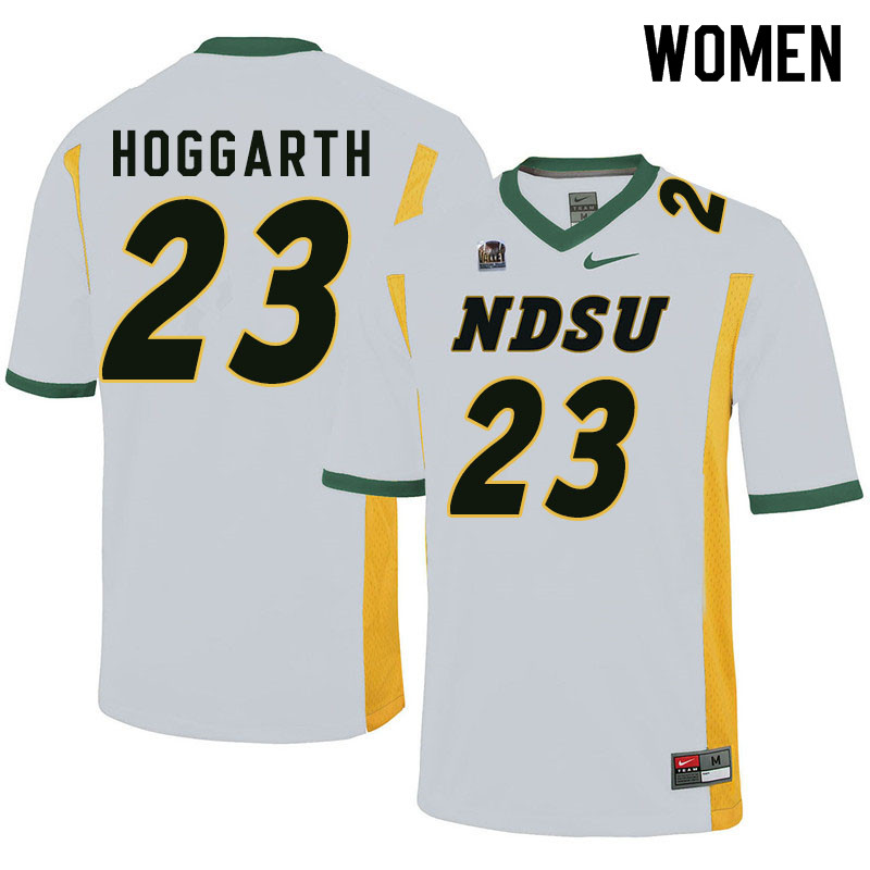 Women #23 Ben Hoggarth North Dakota State Bison College Football Jerseys Sale-White