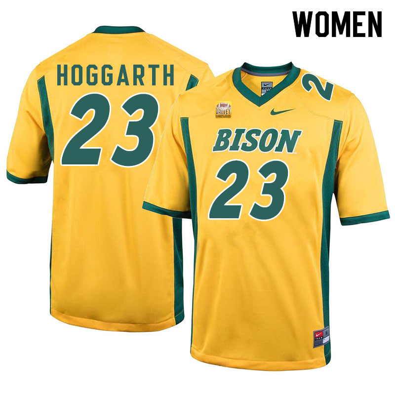 Women #23 Ben Hoggarth North Dakota State Bison College Football Jerseys Sale-Yellow