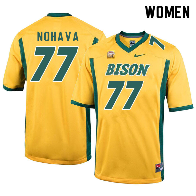 Women #77 Bryan Nohava North Dakota State Bison College Football Jerseys Sale-Yellow