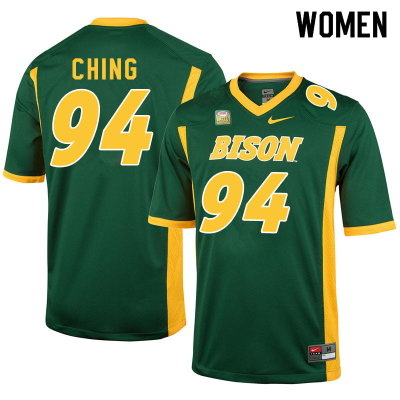 Women #94 Costner Ching North Dakota State Bison College Football Jerseys Sale-Green