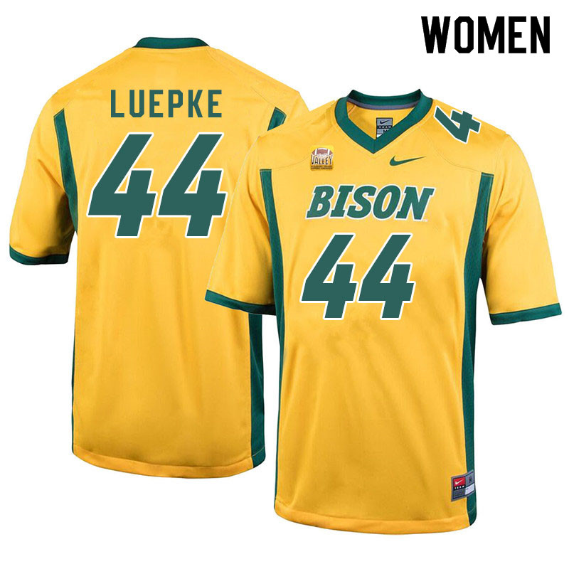 Women #44 Hunter Luepke North Dakota State Bison College Football Jerseys Sale-Yellow