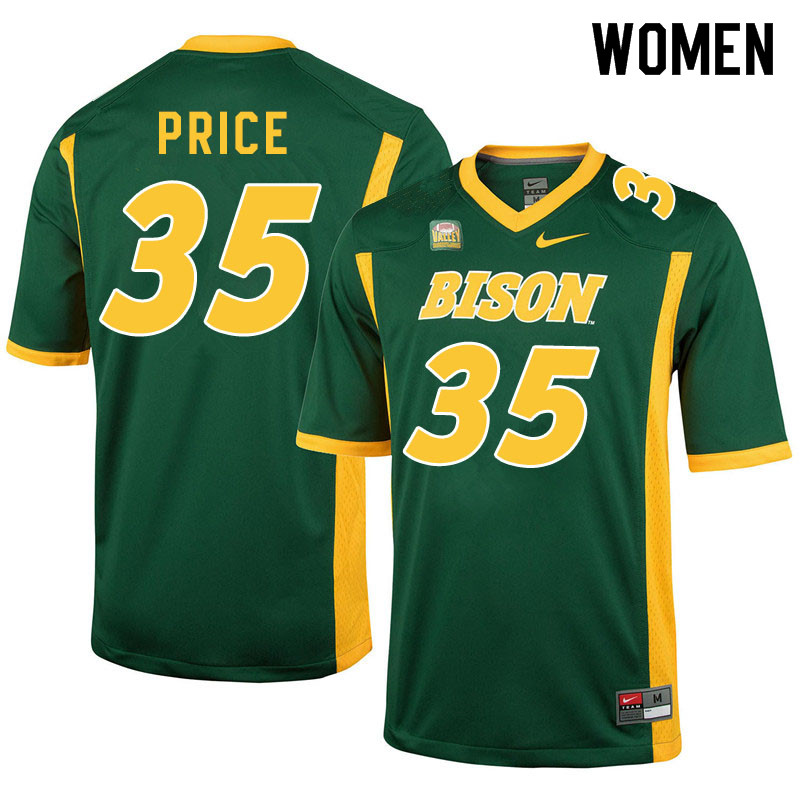 Women #35 Jayden Price North Dakota State Bison College Football Jerseys Sale-Green