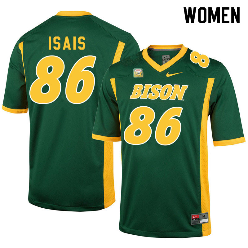 Women #86 Peter Isais North Dakota State Bison College Football Jerseys Sale-Green